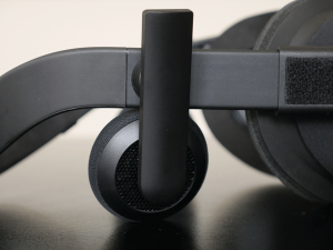Oculus Rift CV1 headphones close-up