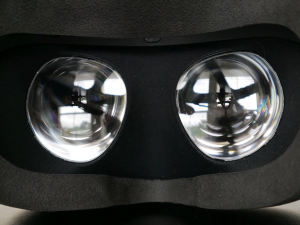 Oculus Rift CV1 Fresnel lenses close-up