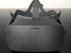 Oculus Rift viewed from the top-front