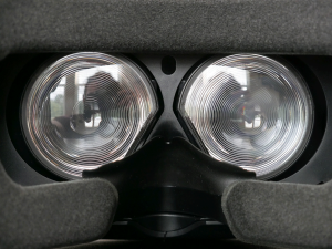 HTC Vive Fresnel lenses close-up